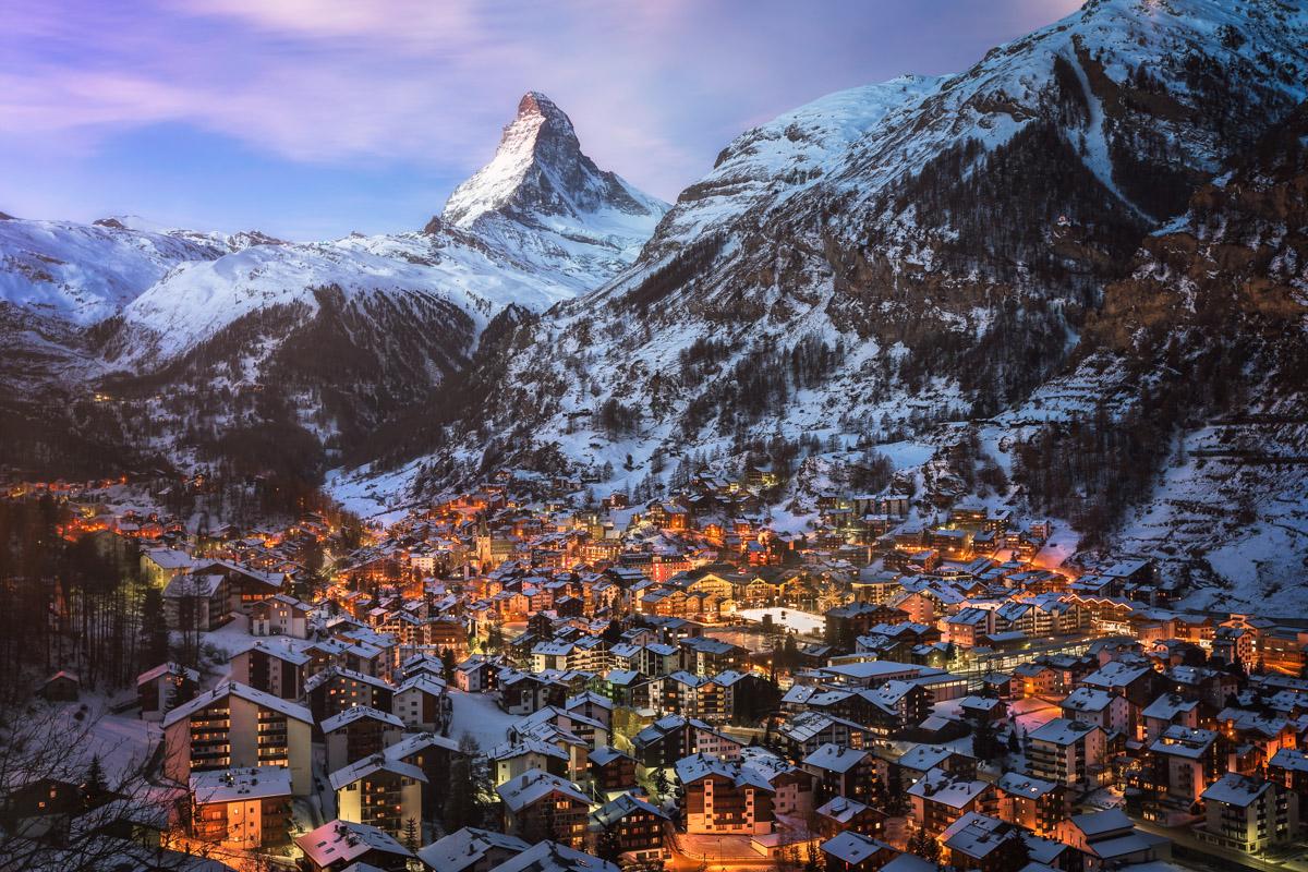 Zermatt and Matterhorn Peak, Switzerland