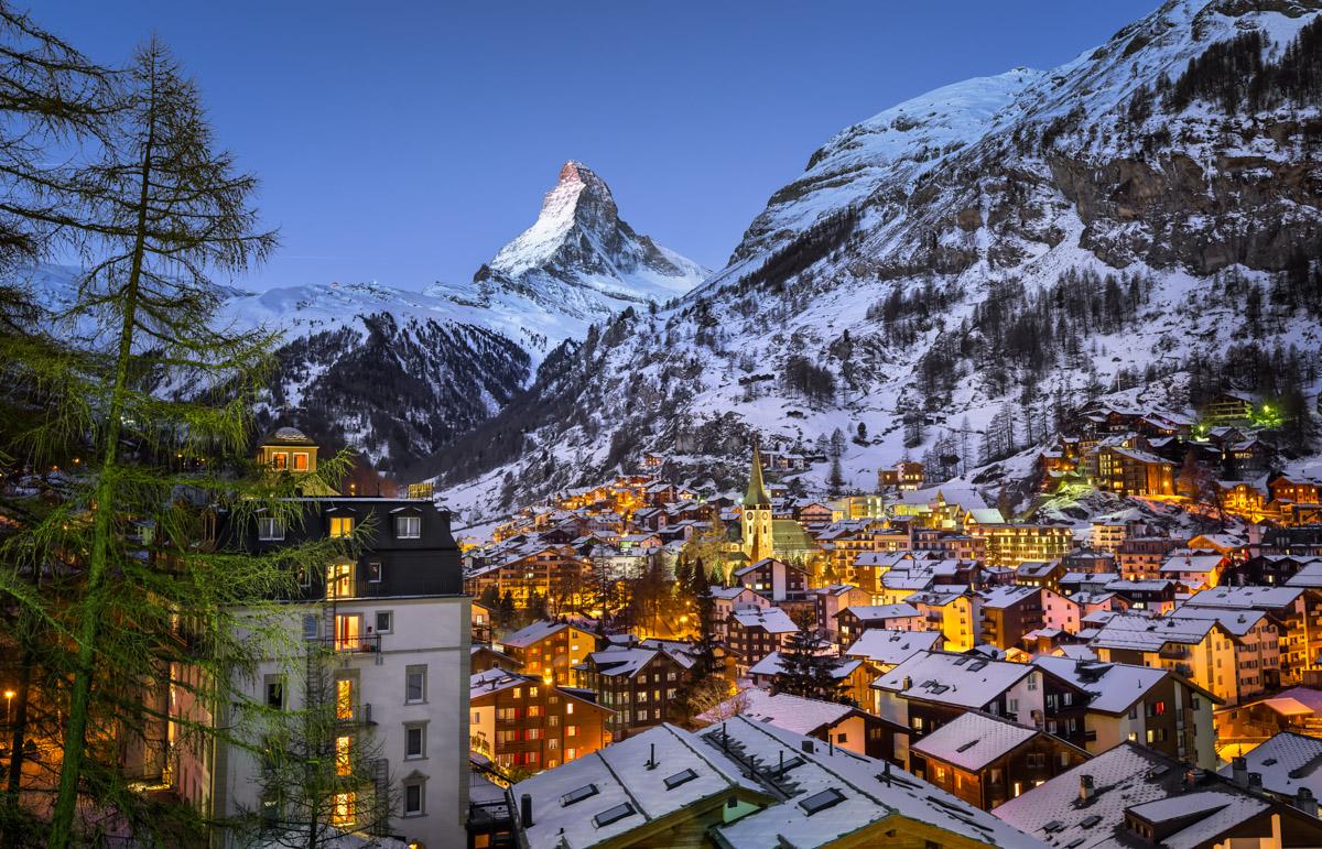 Zermatt Valley and Matterhorn, Switzerland