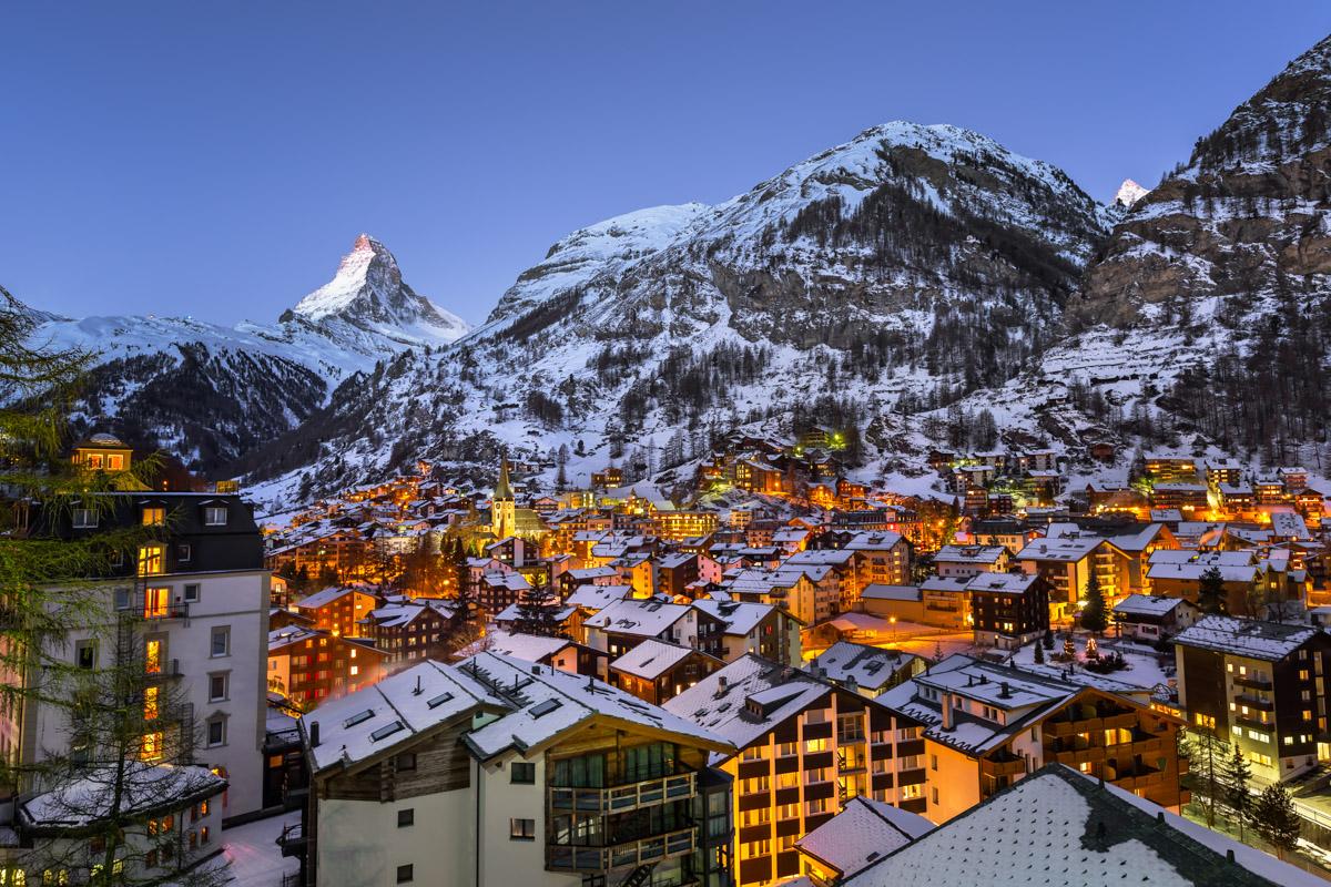 Zermatt Valley, Matterhorn Peak, Switzerland