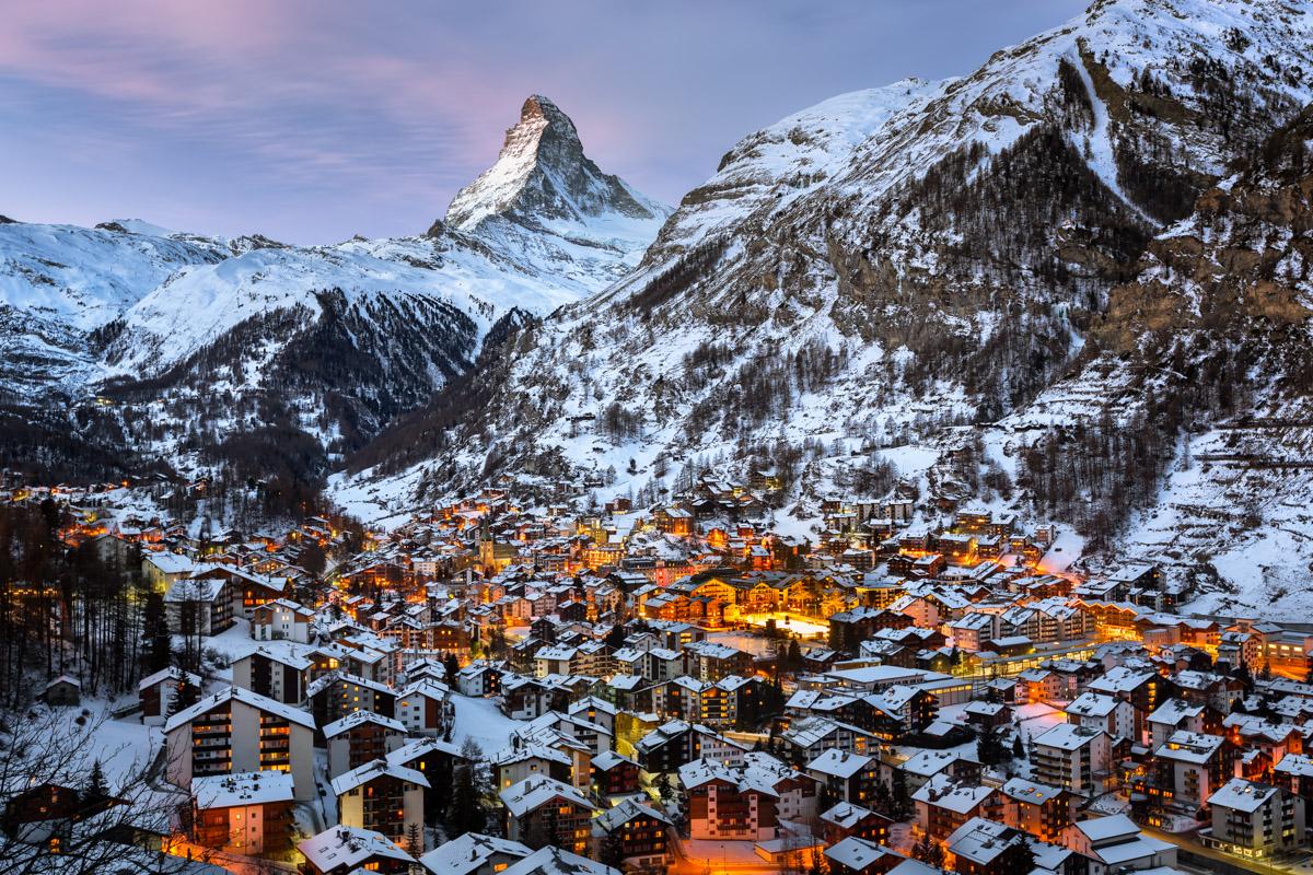 Zermatt Valley, Matterhorn, Switzerland